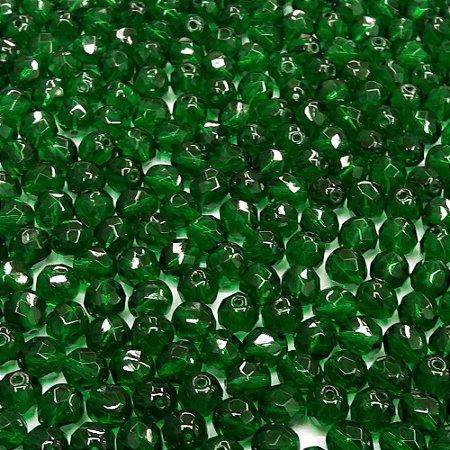 Conta Facetada Verde Escuro 5014
