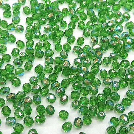 Conta Facetada Verde/AB 5012