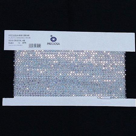 Strass em Corrente Base Plástica Cristal/AB - Preciosa