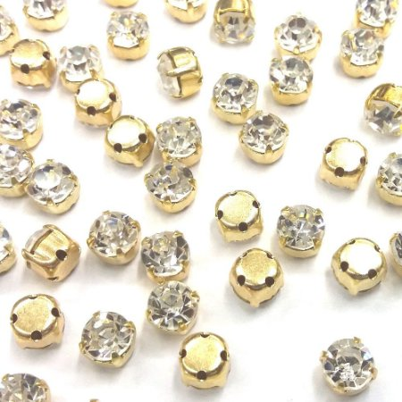 Engrampado Caixa Alta Dourado Cristal - Tcheco