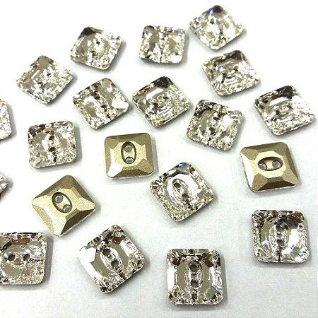 Botão Quadrado 3017 Cristal - Swarovski
