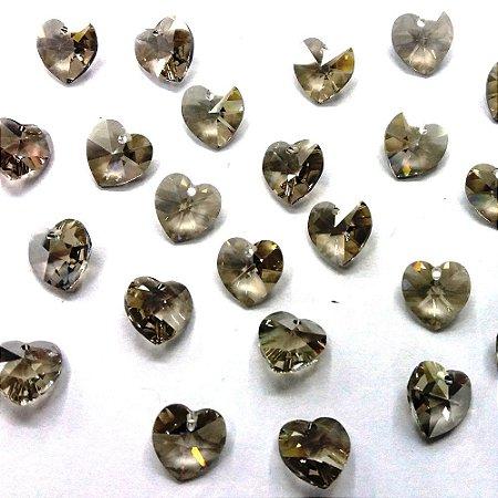 Coração com Furo 6228 Black Diamond - Swarovski