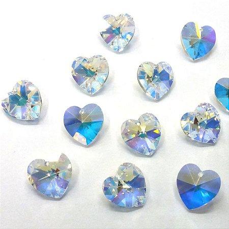 Coração com Furo 6228 Cristal/AB - Swarovski