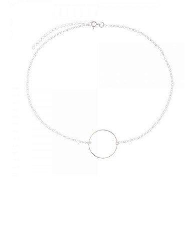 fb8c0ed5f0b Choker Geométrica Círculo em Prata 925 - La Bella Acessórios