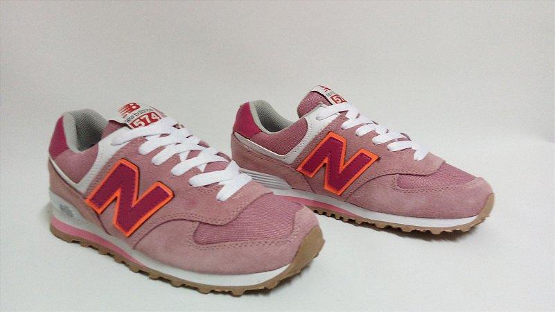 9459e1a11 ... new zealand tênis new balance 574 feminino rosa claro d9b46 804a5 ...