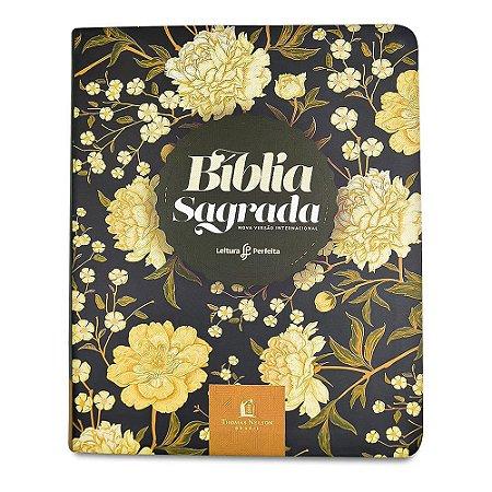 Bíblia Sagrada Nvi - Capa Couro Soft - Flores