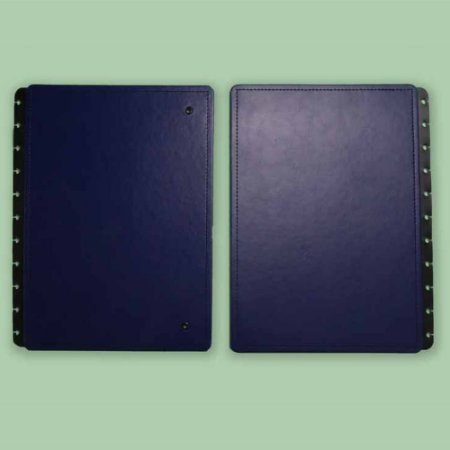 Capa E Contracapa Caderno Inteligente Dark Blue A5