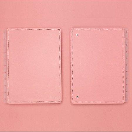Capa E Contracapa Caderno Inteligente Rose Pastel A5