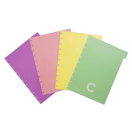 Divisórias Pastel Médio Caderno Inteligente