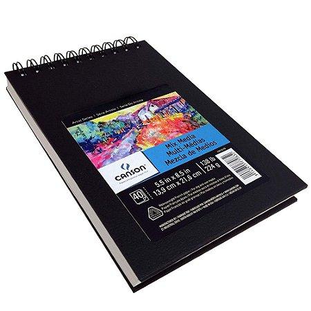 Sketchbook Mix Media Canson 13,9 X 21,6 224g 40fls