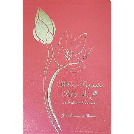 Bíblia Sagrada Ella De Estudo Conciso Luxo Rosa