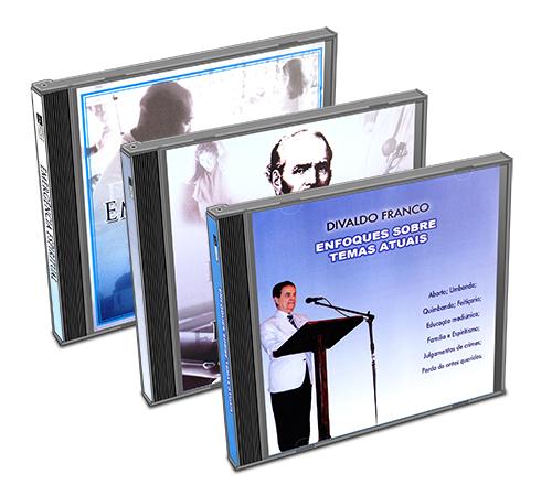 Kit - CD Divaldo Franco - Atualidades  e Espiritualidade