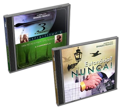 Kit - CD Divaldo Franco - Espiritismo e Imortalidade