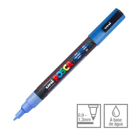 Posca PC-3ML Marcador Azul Glitter 33