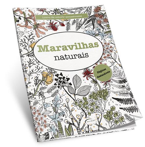 Livro de Colorir Antiestresse Maravilhas Naturais