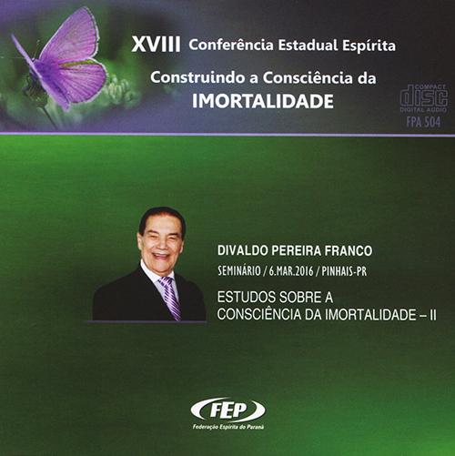 CD-XVIII CEE Estudos Sobre a Consciência da Imortalidade II