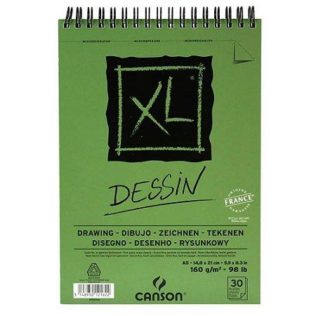Bloco Papel Canson XL Dessin 30fls A5 160g