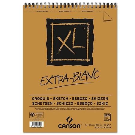 Bloco Papel Canson XL Extra Blanc 120fls A4 90g