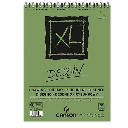 Bloco Papel Canson XL Dessin A4 50fls 160g