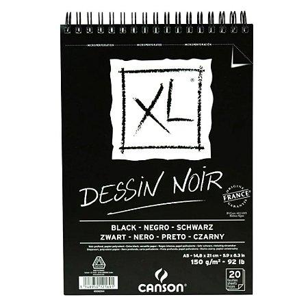 Bloco Papel Canson XL Dessin Noir A5 20fls 150g