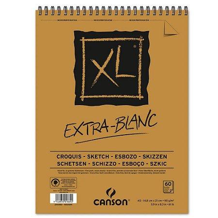 Bloco Papel Canson XL Extra Blanc A5 60fls 90g