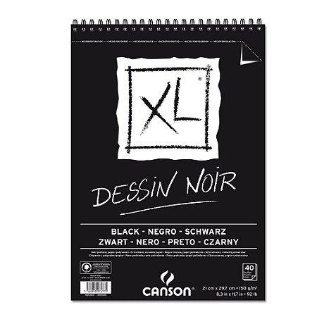 Bloco Papel Canson XL Dessin Noir 40fls A4 150g