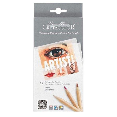 Lápis de Cor Aquarelável Artist Studio Faces 12 Cores