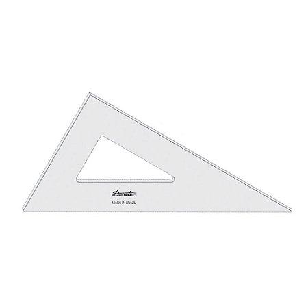 Esquadro De Acrílico 28cm 30/60/90 Sem Escala Trident Mod.2628