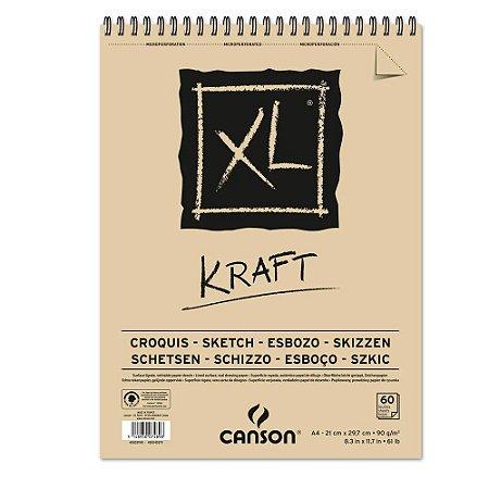 Bloco Papel Canson XL Kraft A4 60fls 90g