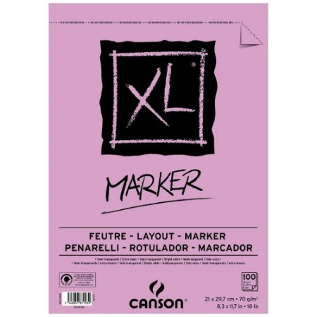 Bloco Papel Canson XL Marker A4 100fls 70g