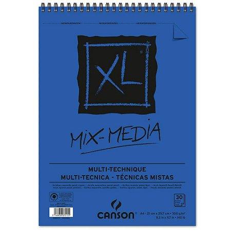 Bloco Papel Canson XL Mix Media 30fls A4 300g