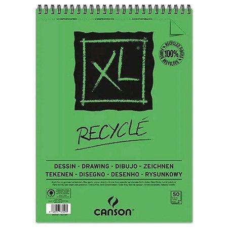 Bloco Papel Canson XL Reciclado A5 25fls 160g