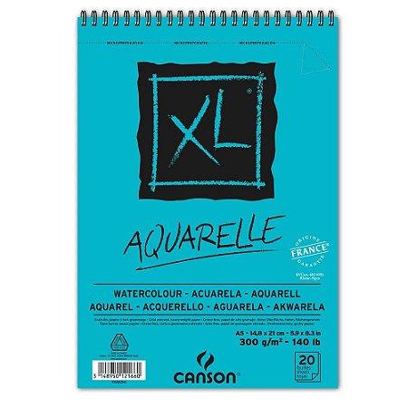 Bloco Papel Canson XL Aquarelle A5 20fls 300g