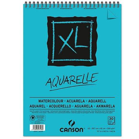 Bloco Papel Canson XL Aquarelle A3 30fls 300g