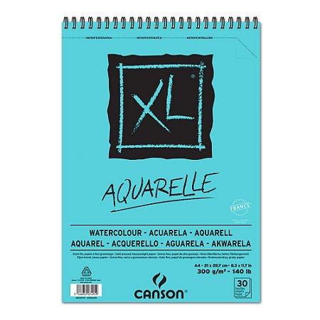 Bloco Papel Canson XL Aquarelle A4 30fls 300g