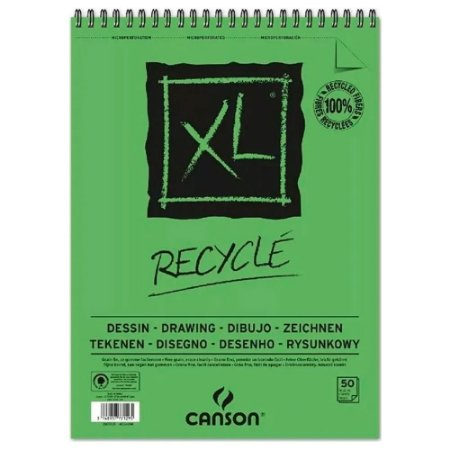 Bloco Papel Canson XL Reciclado 50fls A4 160g