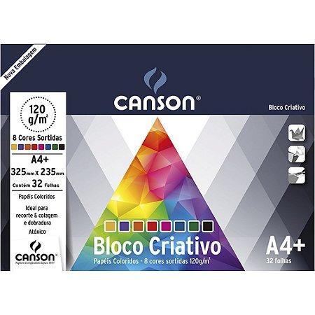 Bloco Papel Criativo Cards 8 Cores A4+ 32fls 120g
