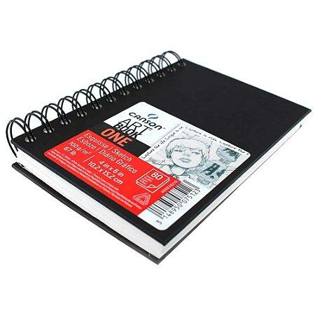 Caderno Artbook One Espiral 10,2x15,2 80fls 100g