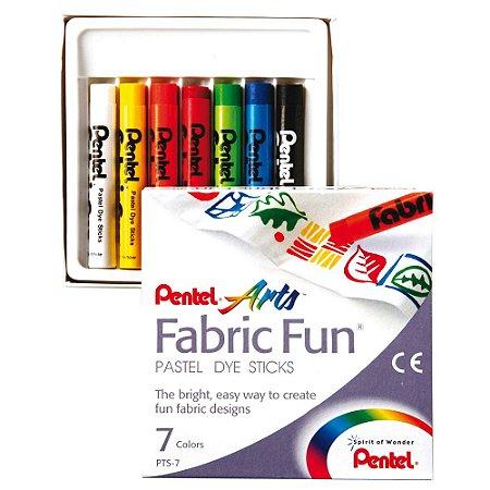 Giz Pastel Seco Fabric Fun C/7 Cores PTS-07E