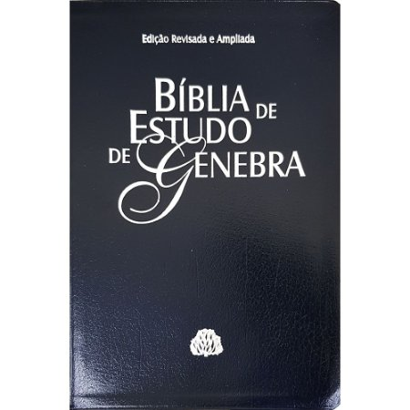 Bíblia De Estudo De Genebra - Luxo - Azul