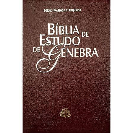 Bíblia De Estudo De Genebra - Luxo - Vinho