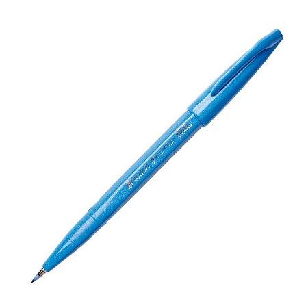 Caneta Pincel Brush Sign Pen Azul Ceu - SES15C-S