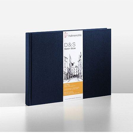 Sketchbook D&S Caderno Azul A4 Paisagem 140g 80 Fls
