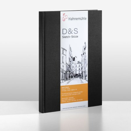 Sketchbook D&S Caderno Preto A4 Retrato 140g 80fls