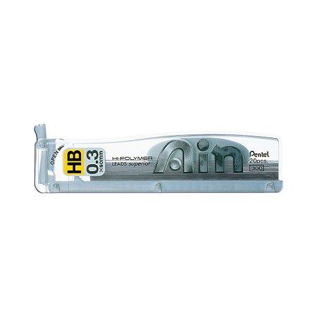 Grafite Pentel Ain 0,3mm HB - C253-HB