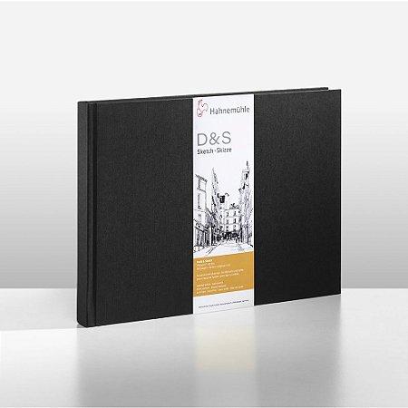 Sketchbook D&S Caderno Preto A6 Paisagem 140g 62fls