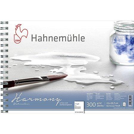 Bloco Aquarela Harmony 300g/m² Rough A4 Espiral 12fls Hahnemuhle