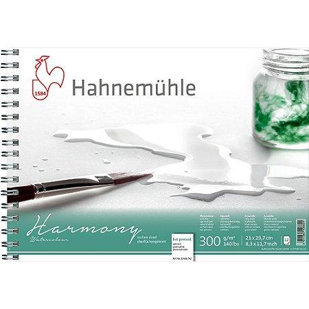 Bloco Aquarela Harmony 300g/m² Hot Pressed A4 Espiral 12fls Hahnemuhle