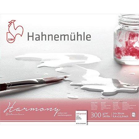Bloco Aquarela Harmony 300g/m² Cold Pressed 24x30cm 12fls Hahnemuhle