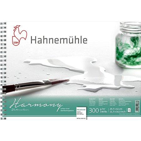 Bloco Aquarela Harmony 300g/m² Hot Pressed A3 Espiral 12fls Hahnemuhle
